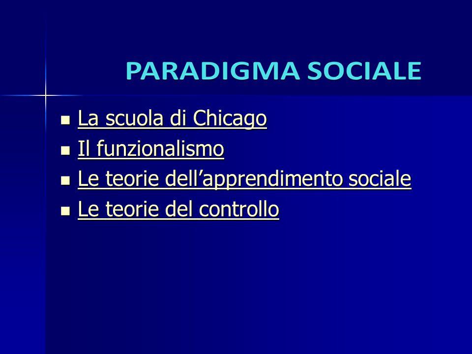 La scuola di Chicago La scuola di Chicago La scuola di Chicago La scuola di Chicago Il funzionalismo Il funzionalismo Il funzionalismo Il funzionalism