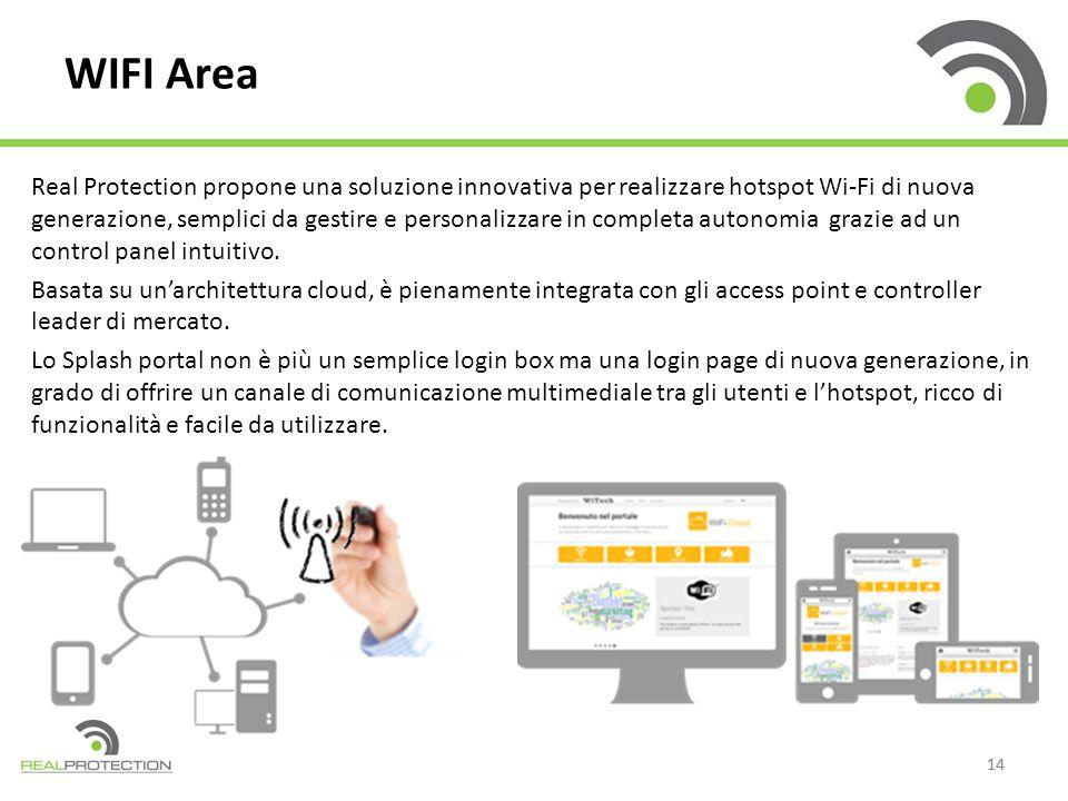 14 Real Protection propone una soluzione innovativa per realizzare hotspot Wi-Fi di nuova generazione, semplici da gestire e personalizzare in complet