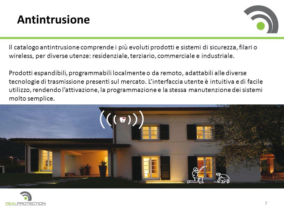 77 Antintrusione Il catalogo antintrusione comprende i più evoluti prodotti e sistemi di sicurezza, filari o wireless, per diverse utenze: residenzial