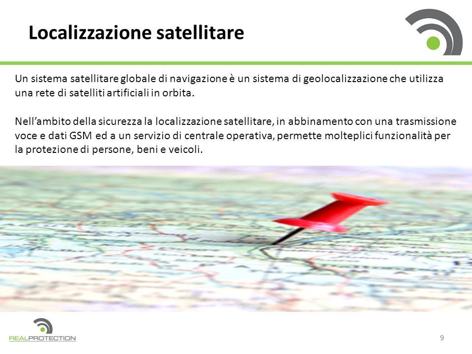 99 Localizzazione satellitare Un sistema satellitare globale di navigazione è un sistema di geolocalizzazione che utilizza una rete di satelliti artificiali in orbita.