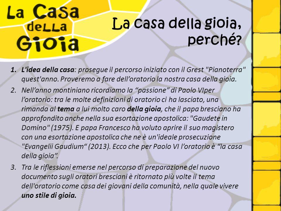 Le parole di Paolo VI «L'Oratorio per voi ragazzi deve essere La casa della gioia .