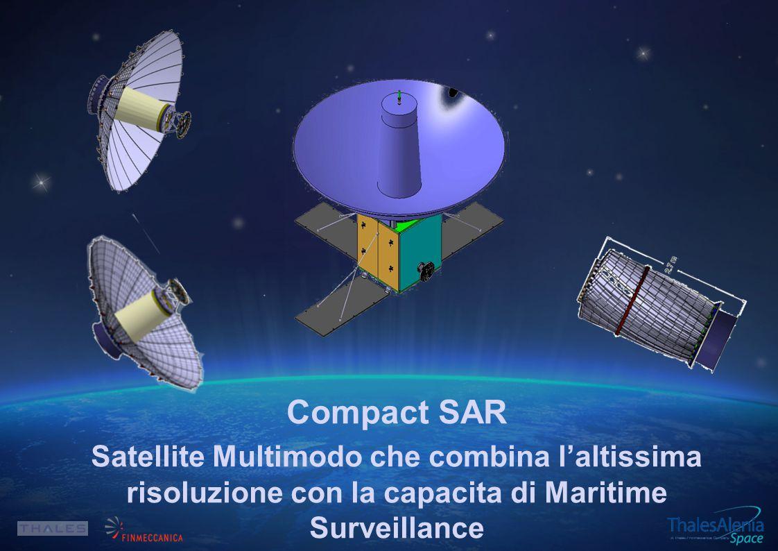 Compact SAR Satellite Multimodo che combina l'altissima risoluzione con la capacita di Maritime Surveillance