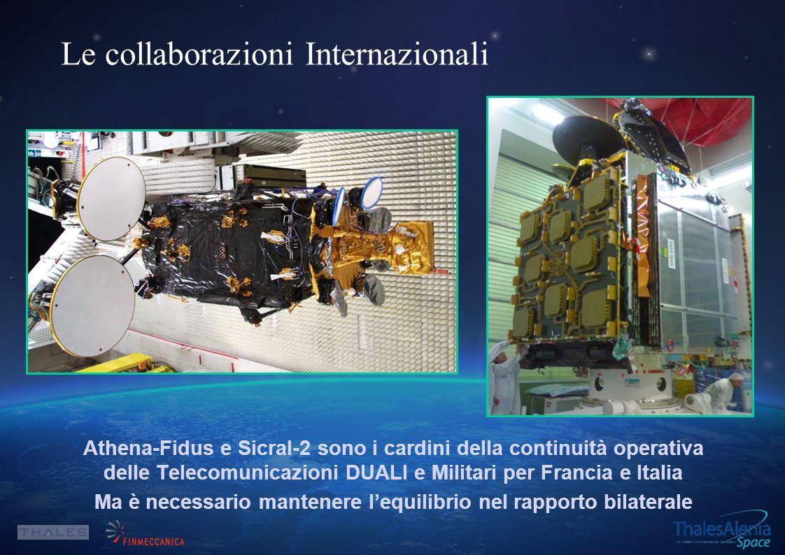 Athena-Fidus e Sicral-2 sono i cardini della continuità operativa delle Telecomunicazioni DUALI e Militari per Francia e Italia Ma è necessario mantenere l'equilibrio nel rapporto bilaterale Le collaborazioni Internazionali