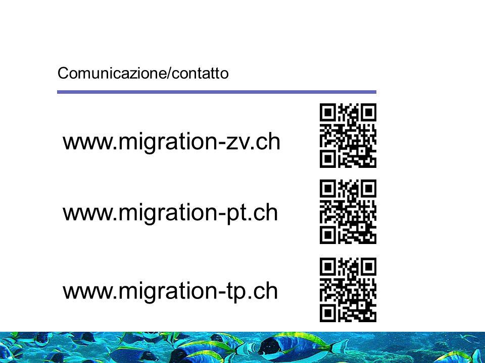 www.migration-zv.ch www.migration-pt.ch www.migration-tp.ch Comunicazione/contatto