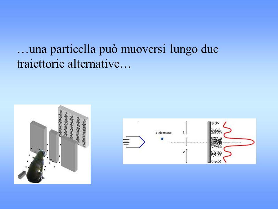 …una particella può muoversi lungo due traiettorie alternative…