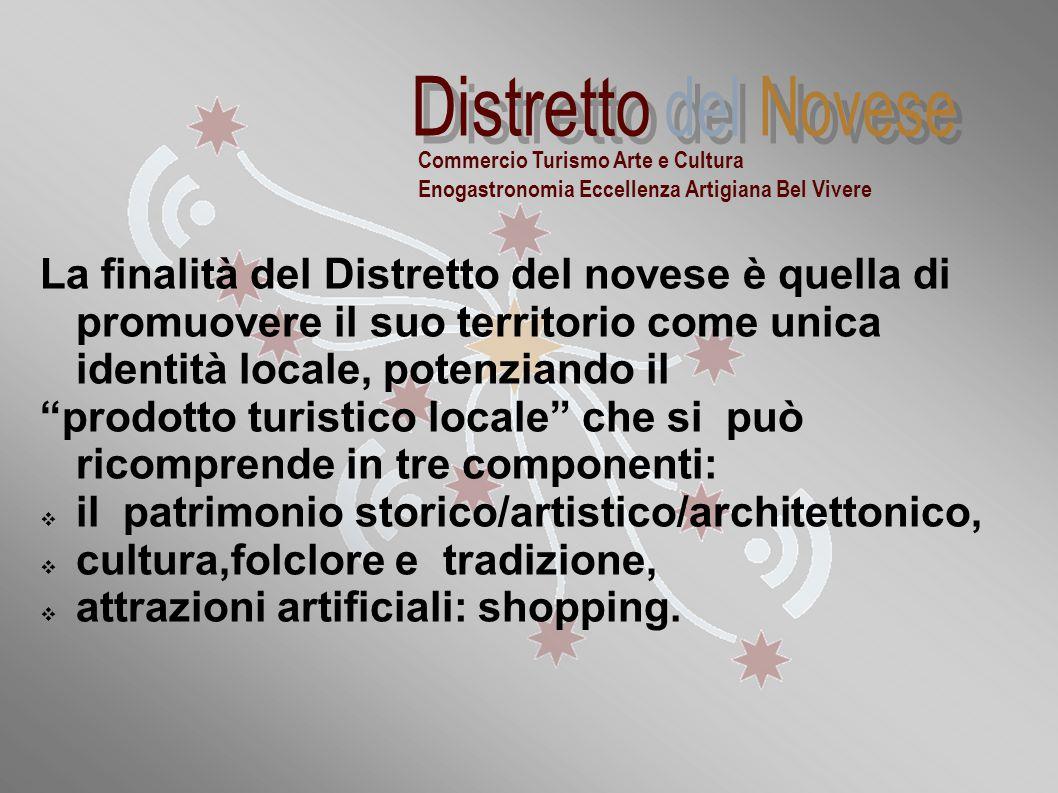 """""""Distretti commerciali sperimentali della Regione Piemonte: la realtà novese"""" La finalità del Distretto del novese è quella di promuovere il suo terri"""