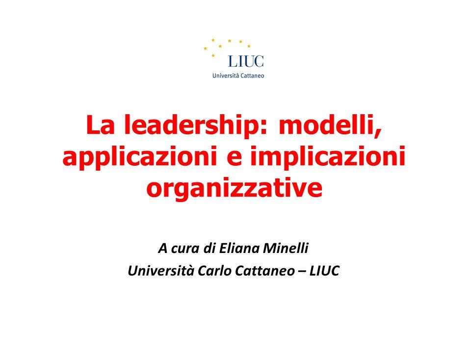 La leadership transazionale Enfatizza la transazione e lo scambio che si verifica tra leader, colleghi e collaboratori Scambio tra obiettivi raggiunti e ricompense Presuppone la negoziazione e l'uso di leve gestionali Rafforzamento contingente: – RICOMPENSA CONTINGENTE (CONTINGENT REWARD-CR) – DIREZIONE PER ECCEZIONI (MANAGEMENT BY EXCEPTION) MBE-A: CONTROLLO ATTIVO DELLE DEVIANZE DAGLI STANDARD MBE-P: ATTESA PASSIVA DEL VERIFICARSI DI DEVIAZIONI