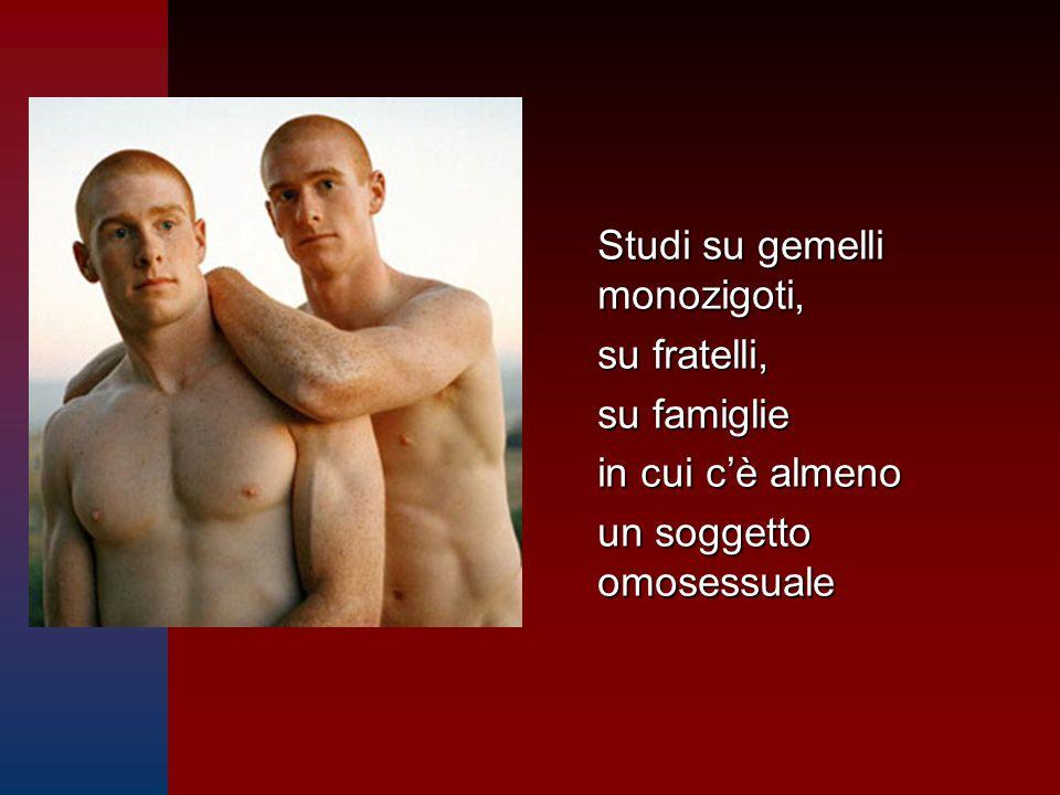 Studi su gemelli monozigoti, su fratelli, su famiglie in cui c'è almeno un soggetto omosessuale