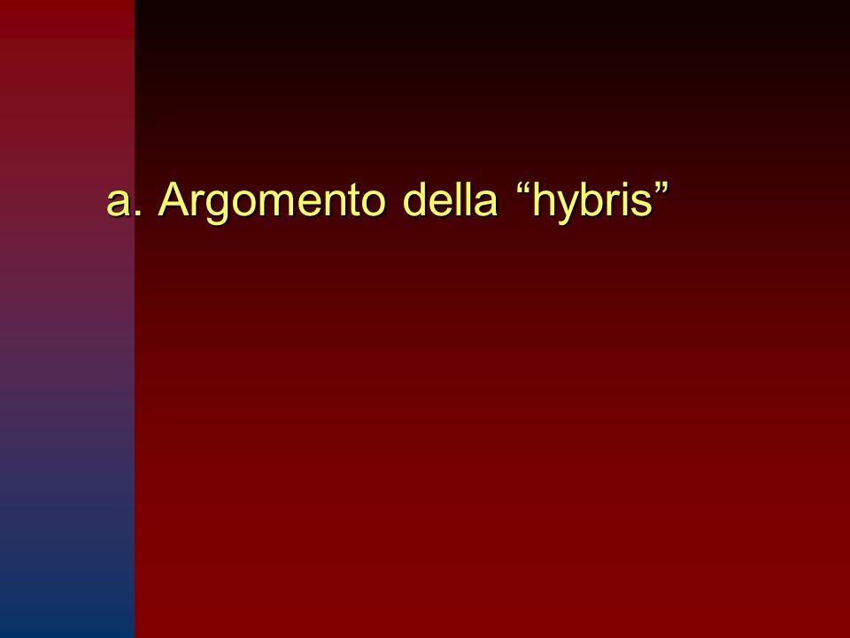 """a. Argomento della """"hybris"""""""