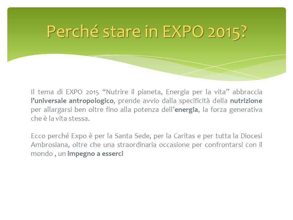 """Il tema di EXPO 2015 """"Nutrire il pianeta, Energia per la vita"""" abbraccia l'universale antropologico, prende avvio dalla specificità della nutrizione p"""