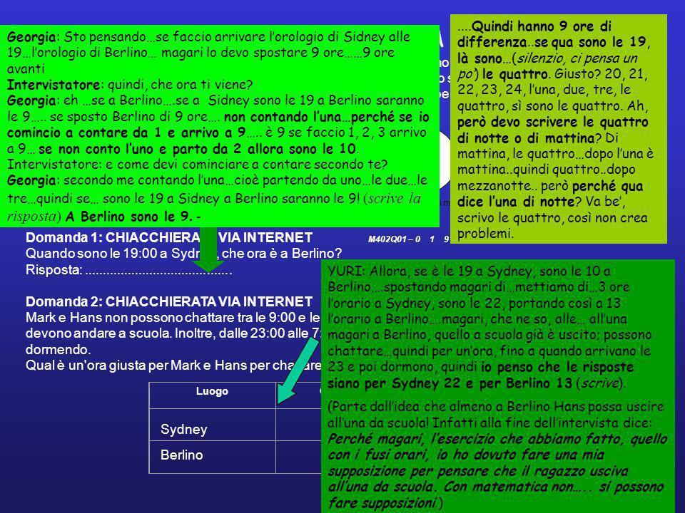 CHIACCHERATA VIA INTERNET Mark (da Sydney, Australia) e Hans (da Berlino, Germania) comunicano spesso tra loro utilizzando le «chat» su Internet.