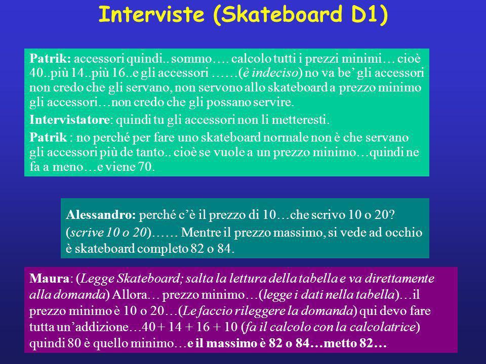 Interviste (Skateboard D1) Alessandro: perché c'è il prezzo di 10…che scrivo 10 o 20.