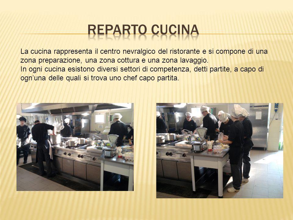 La cucina rappresenta il centro nevralgico del ristorante e si compone di una zona preparazione, una zona cottura e una zona lavaggio.