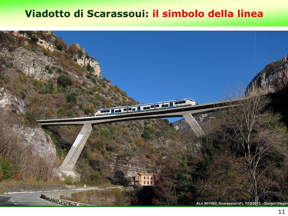 Viadotto di Scarassoui: il simbolo della linea 11