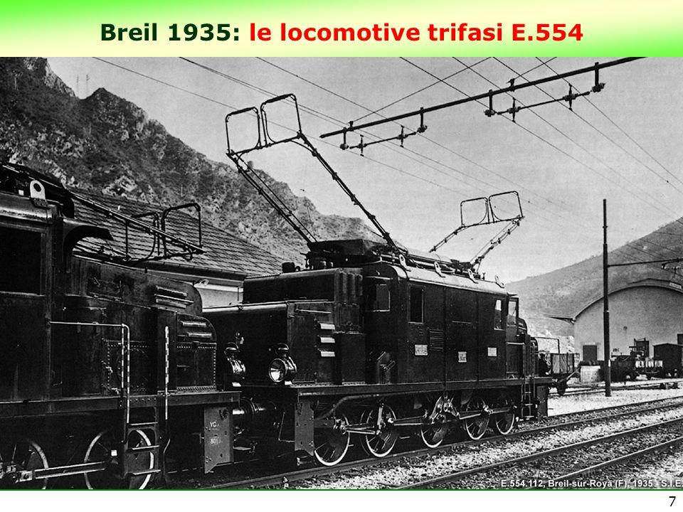 Breil 1935: le locomotive trifasi E.554 7