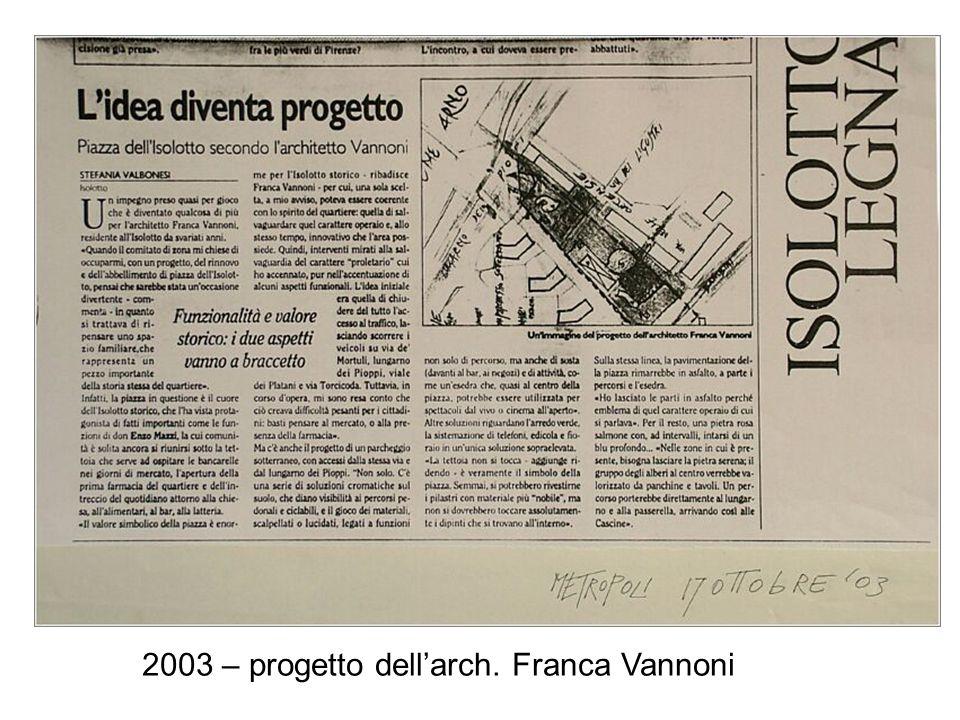 2003 – progetto dell'arch. Franca Vannoni