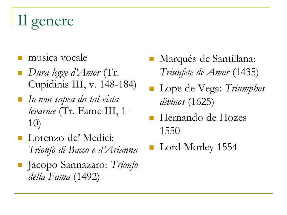 Il genere musica vocale Dura legge d'Amor (Tr. Cupidinis III, v.