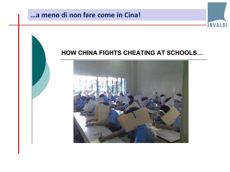 …a meno di non fare come in Cina!