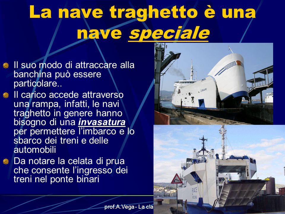 prof.A.Vega - La classificazione11 Vediamo altri esempi di navi passeggeri Questa è la nave traghetto SIBARI delle Ferrovie dello Stato che fa servizi