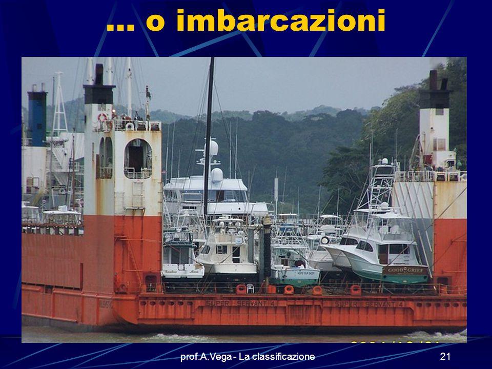prof.A.Vega - La classificazione20 Utilizzate per il trasporto di altre navi