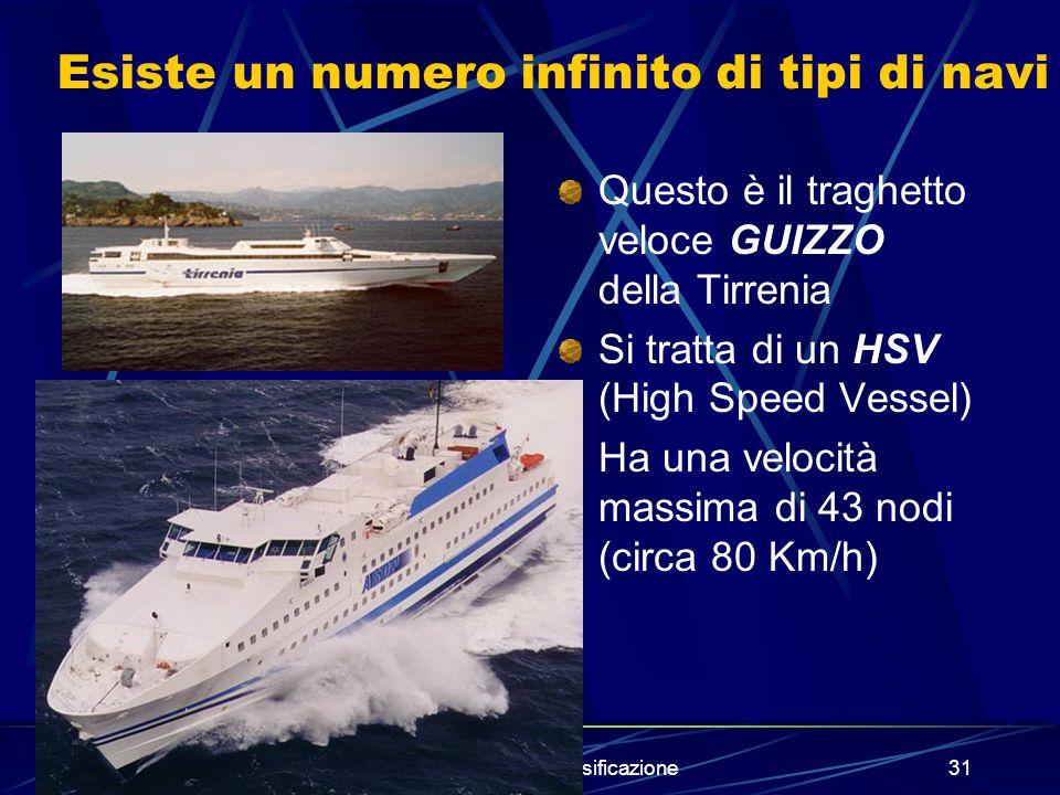 prof.A.Vega - La classificazione30 Altri esempi di navi rinfusiere (builk), portacontainer e cisterna