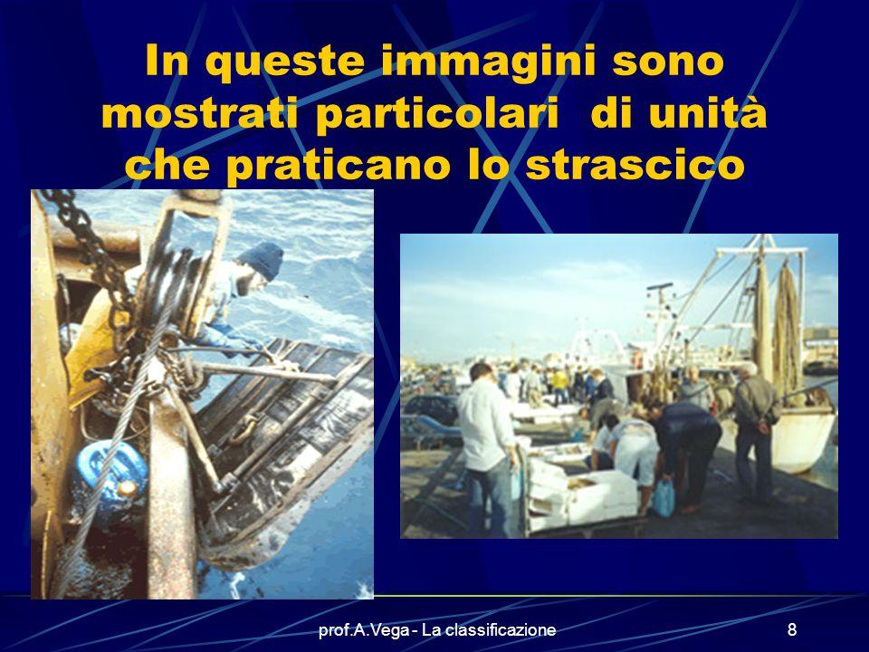 prof.A.Vega - La classificazione7 Ecco una unità da pesca Un ruolo importante è rivestito dalle unità da pesca Esistono svariati tipi di pescherecci,