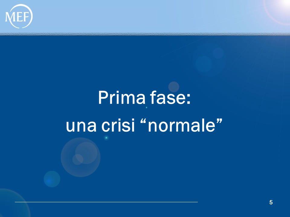 """55 Prima fase: una crisi """"normale"""""""