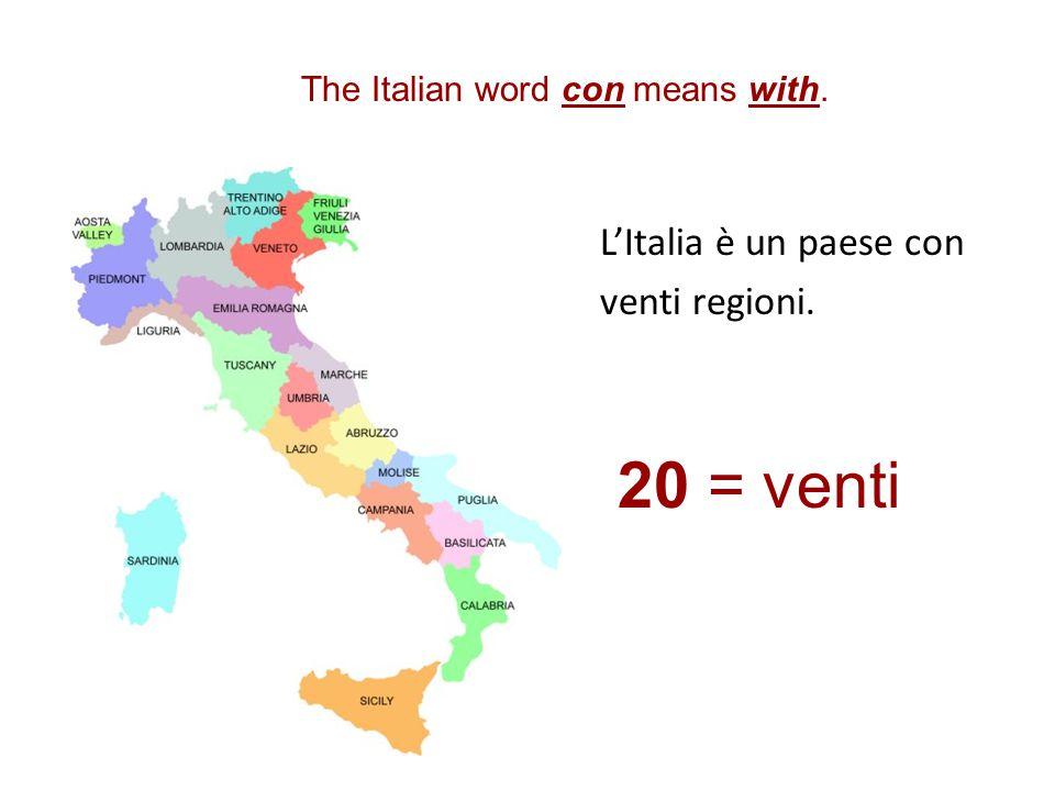 una regione La Toscana è una regione dell'Italia. il capoluogo Un capoluogo è la capitale di una regione. Firenze è il capoluogo della Toscana.