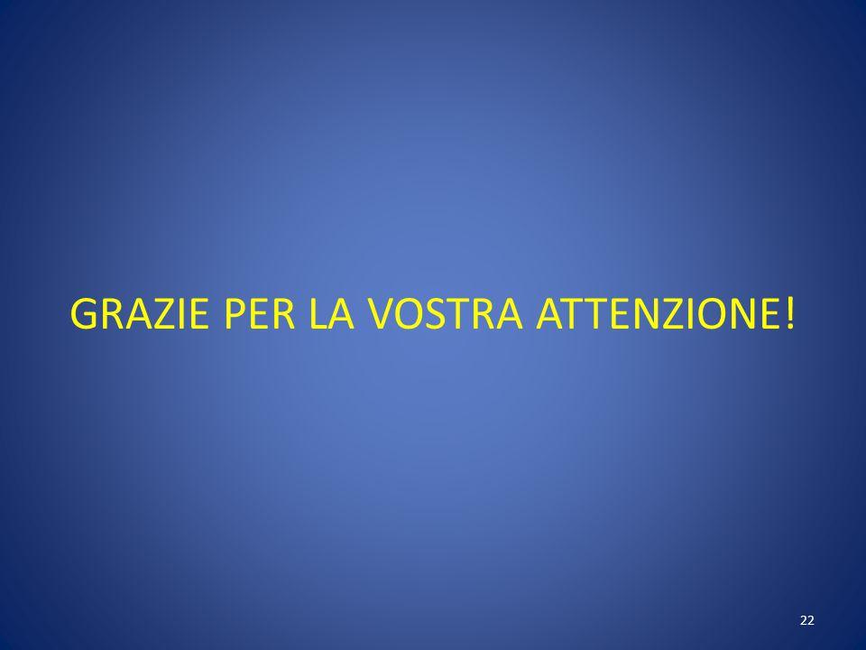 GRAZIE PER LA VOSTRA ATTENZIONE! 22