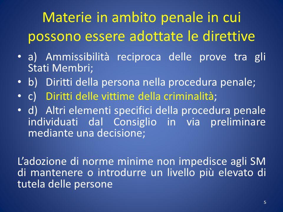 Norme del codice penale Norme del codice di procedura penale Legislazione speciale 16
