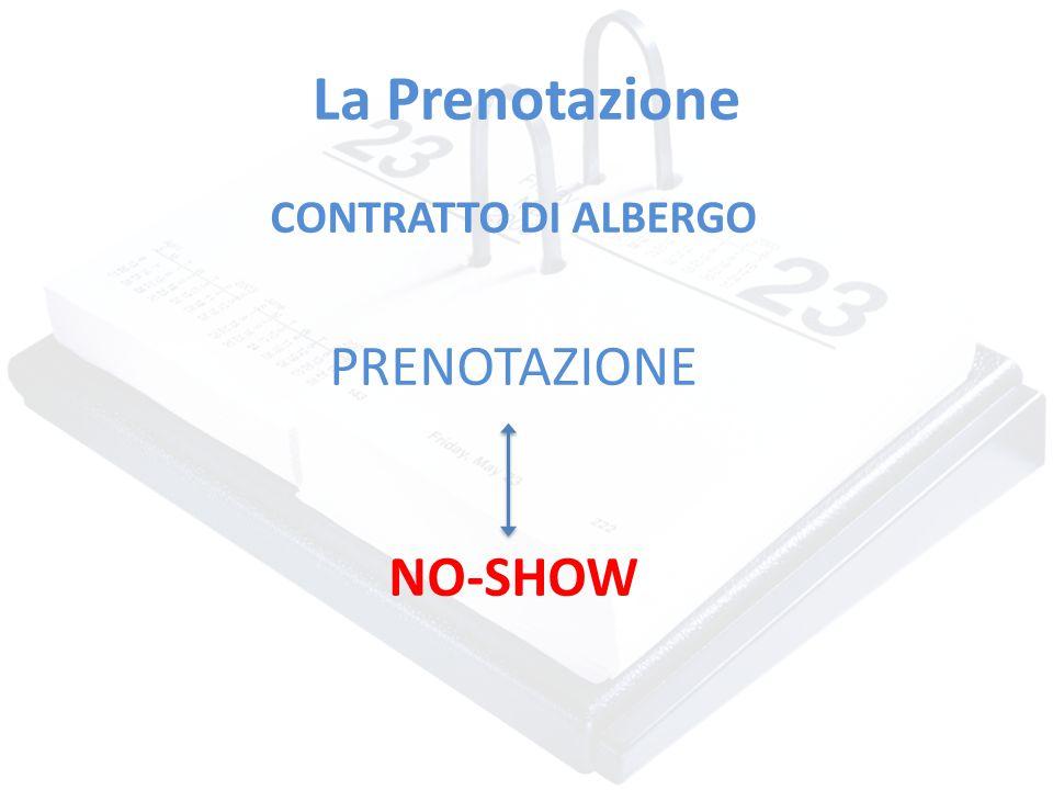La Prenotazione CONTRATTO DI ALBERGO PRENOTAZIONE NO-SHOW