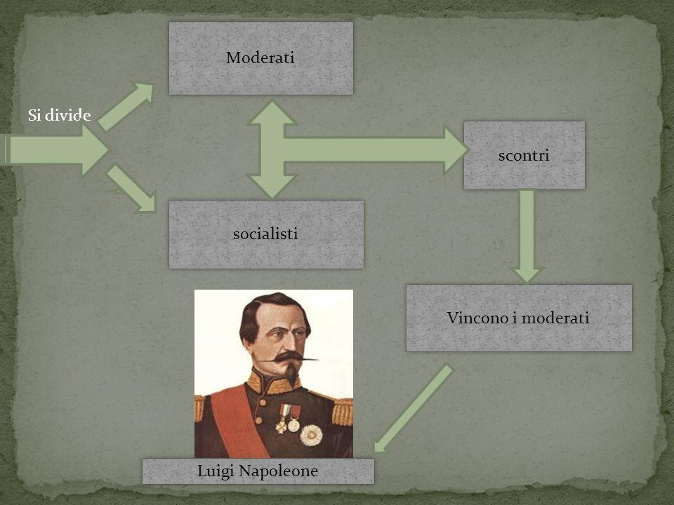 Si divide Moderati socialisti scontri Vincono i moderati Luigi Napoleone