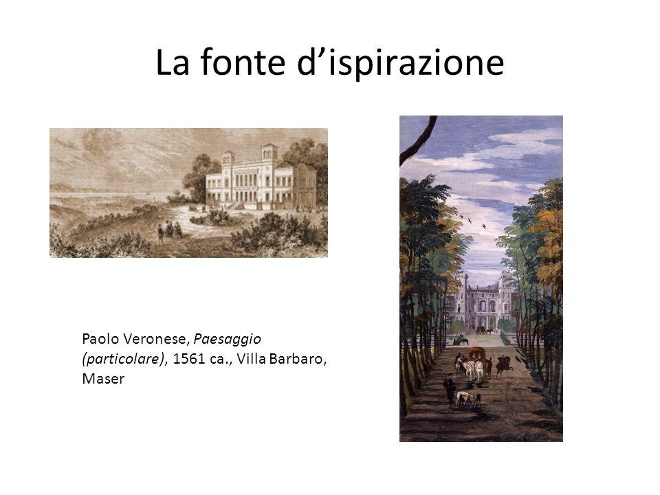 La fonte d'ispirazione Paolo Veronese, Paesaggio (particolare), 1561 ca., Villa Barbaro, Maser