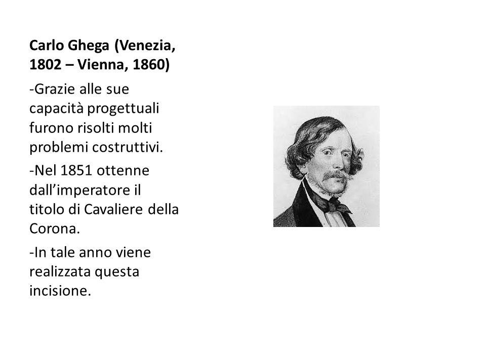 Carlo Ghega (Venezia, 1802 – Vienna, 1860) -Grazie alle sue capacità progettuali furono risolti molti problemi costruttivi. -Nel 1851 ottenne dall'imp