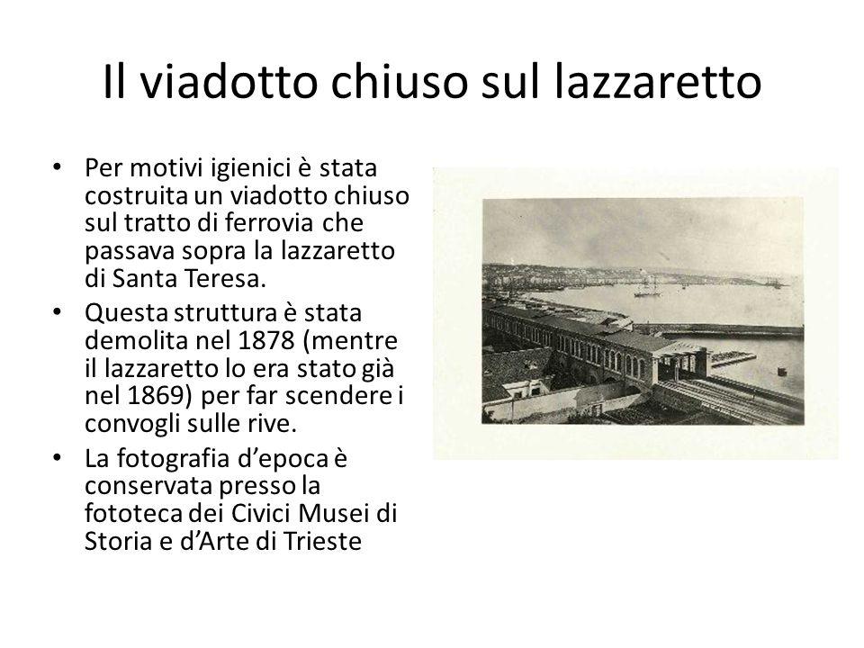 Giovanni Varoni, Stazione di Trieste, Trieste 1857 (da Zu Erinnerung an die … 1857) Anticamente questa era detta piazza del Macello (esistente dal 1780) e dove si affacciava l'Istituto dei Poveri (1818).