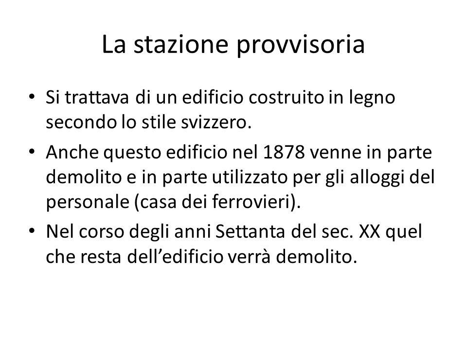 Giovanni Varoni, Stazione di Trieste, Trieste 1857 (da Zu Erinnerung an die … 1857) Da questa litografia si intuisce come sin dal 1857 esisteva un'idea progettuale su come doveva essere la futura nuova stazione.