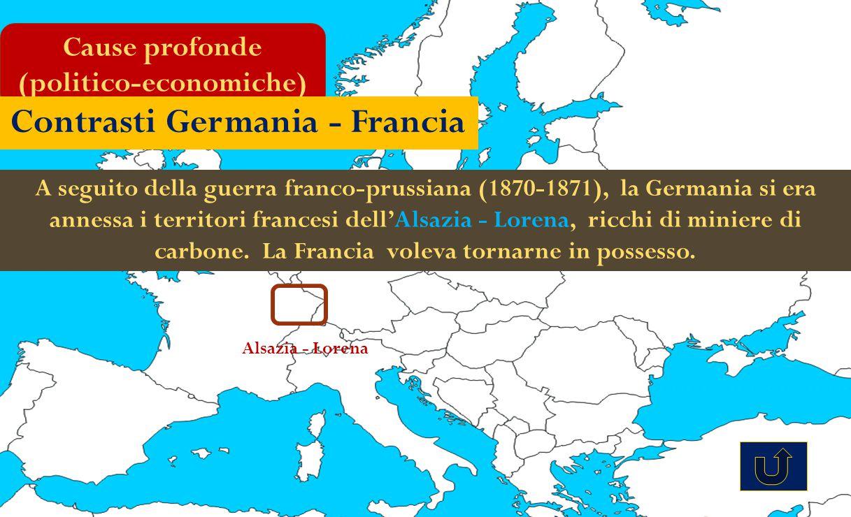 A seguito della guerra franco-prussiana (1870-1871), la Germania si era annessa i territori francesi dell'Alsazia - Lorena, ricchi di miniere di carbo