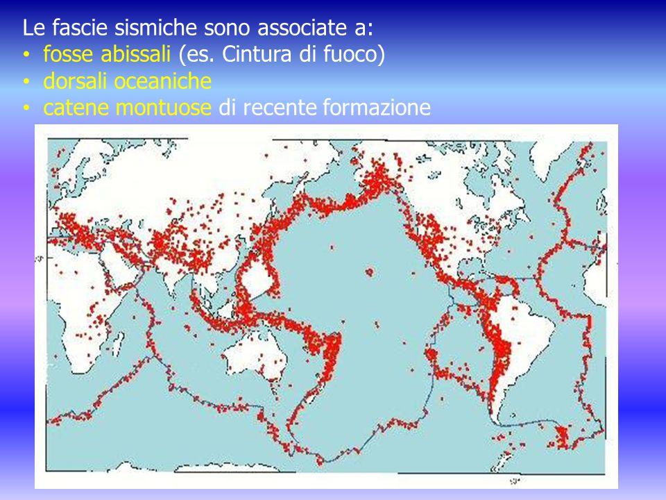 Le fascie sismiche sono associate a: fosse abissali (es.