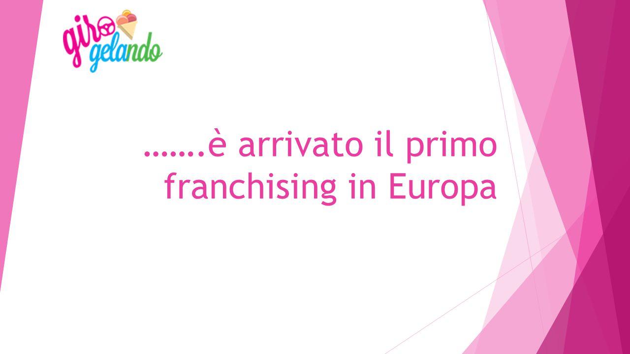 …….è arrivato il primo franchising in Europa