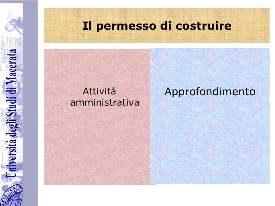 Università degli Studi di Perugia Il permesso di costruire Attività amministrativa Approfondimento