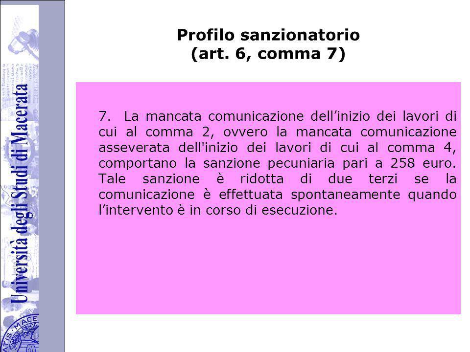 Università degli Studi di Perugia Profilo sanzionatorio (art.