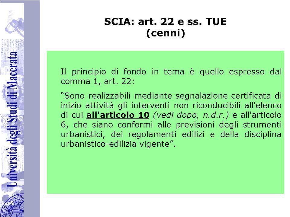 Università degli Studi di Perugia SCIA: art.22 e ss.