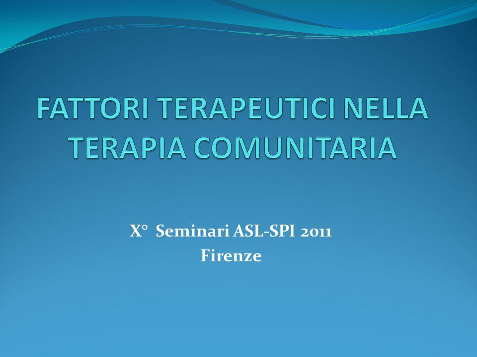 X° Seminari ASL-SPI 2011 Firenze
