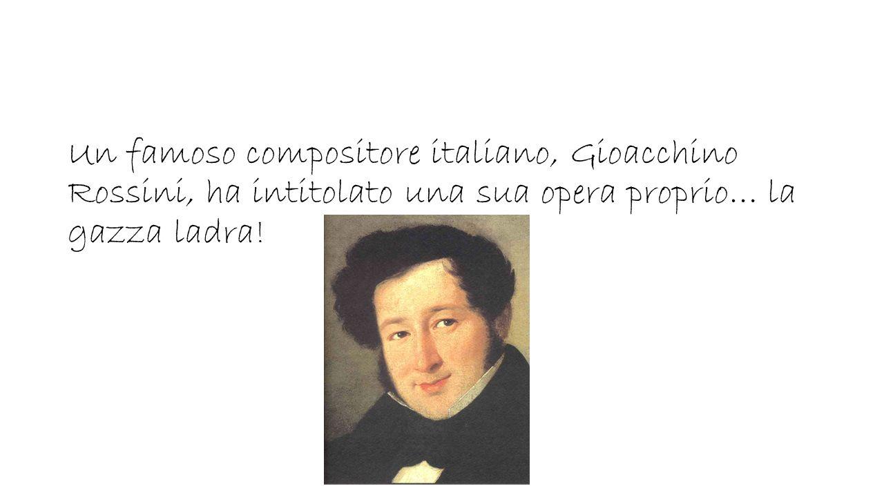 Un famoso compositore italiano, Gioacchino Rossini, ha intitolato una sua opera proprio… la gazza ladra!