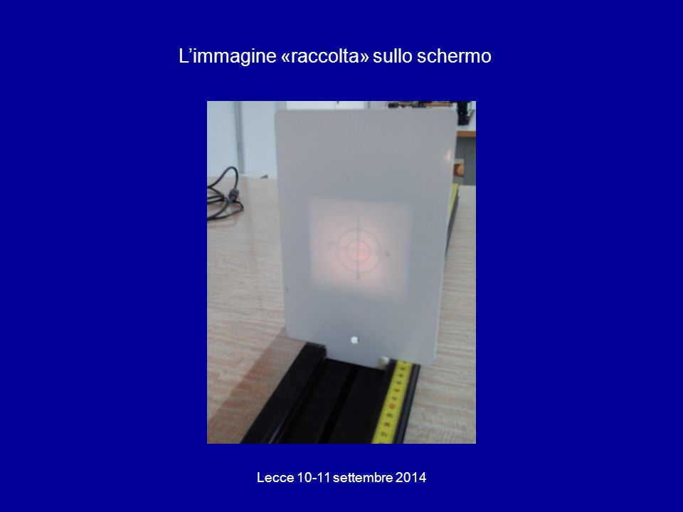 L'immagine «raccolta» sullo schermo Lecce 10-11 settembre 2014