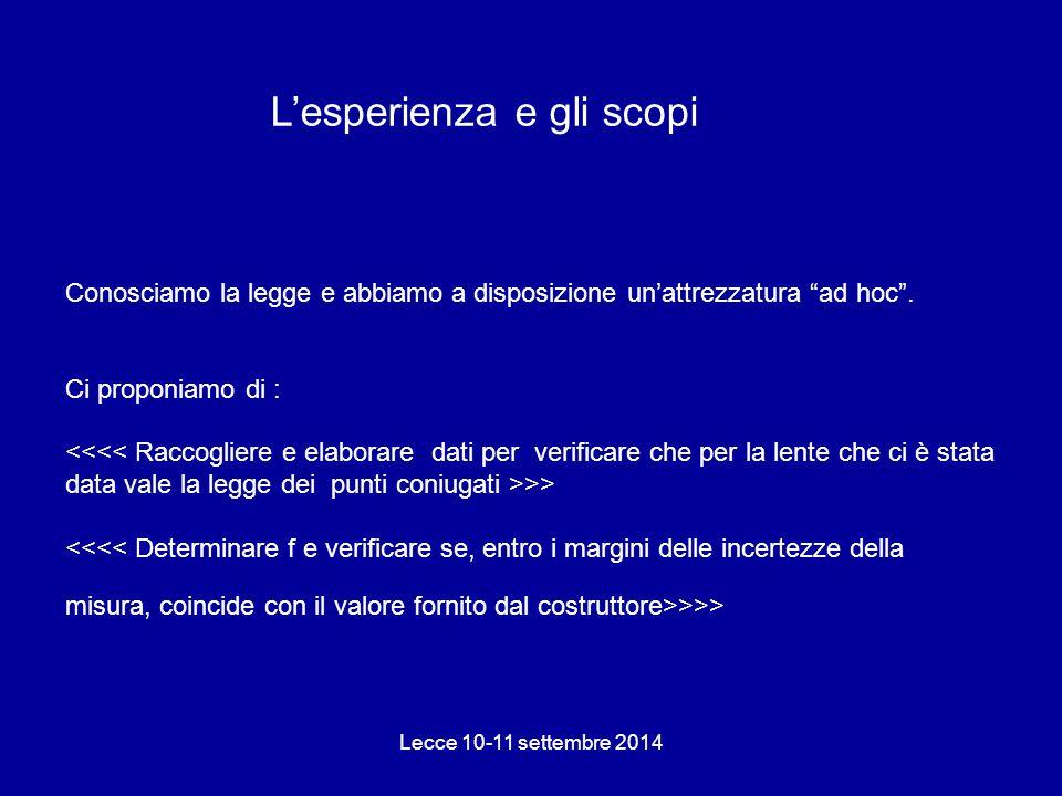"""Conosciamo la legge e abbiamo a disposizione un'attrezzatura """"ad hoc"""". Ci proponiamo di : >> >>> Lecce 10-11 settembre 2014 L'esperienza e gli scopi"""