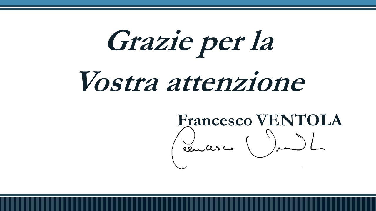 Grazie per la Vostra attenzione Francesco VENTOLA