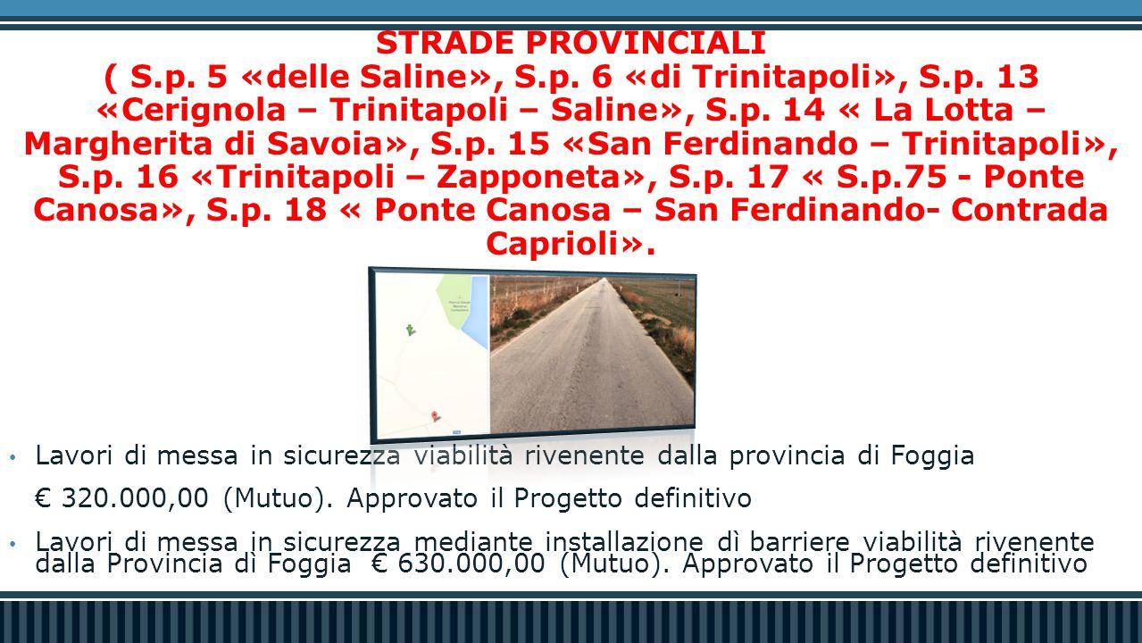STRADE PROVINCIALI ( S.p. 5 «delle Saline», S.p. 6 «di Trinitapoli», S.p.