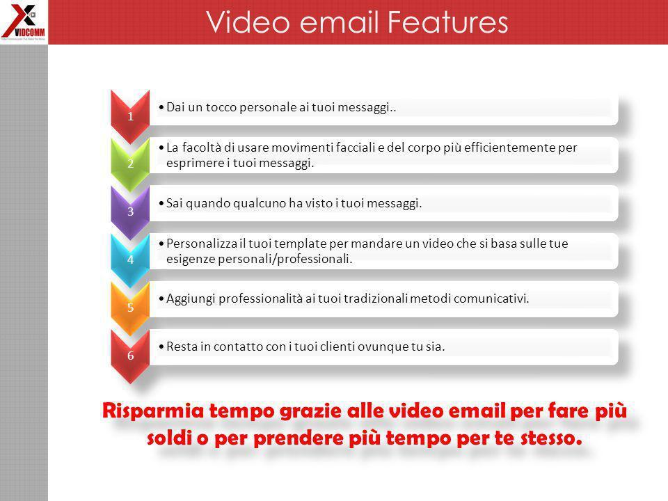 Risparmia tempo grazie alle video email per fare più soldi o per prendere più tempo per te stesso.