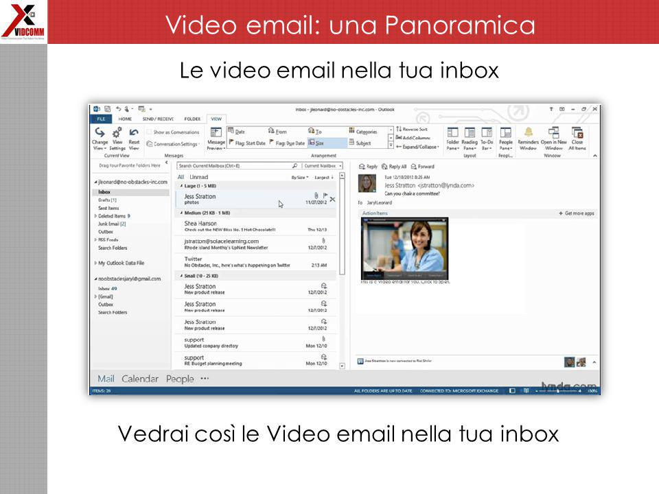 Le video email nella tua inbox Vedrai così le Video email nella tua inbox Video email: una Panoramica